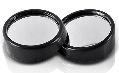 dealglad® 2KFZ 360Grad verstellbar Mini Rund Weitwinkel konvex Rückseite View Rückseite Rückfahrkamera Blind Spot Spiegel