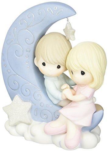 """Momentos preciosos Regalos del día de San Valentín """", I Love You a la luna y Volver,"""" Crema porcelana figura decorativa, 152016"""