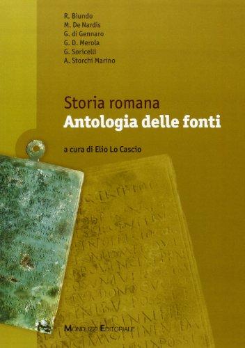 Storia romana. Antologia delle fonti