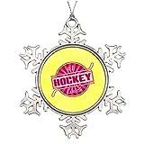 Monsety Schneeflocken-Dekoration für Hockeytrainer, für Hochzeit, Jahrestag