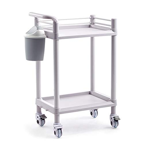 Küchenwagen Chunlan ABS Scroll Aufbewahrungswagen Mit Praktischen Griffen  Und Extra Mülleimer Für Schönheit,