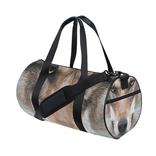 Hund Gesicht Design Duffle Bag Schulter handliche Sports Gym Bags für Männer und Frauen (Realistische Hund)