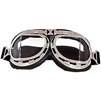 Gafas de motorista Marco Plateado Cristal Transparente - Transparente