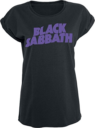 Black Sabbath Logo Camiseta Mujer Negro M