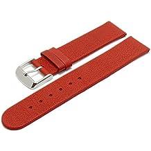 Meyhofer EASY-CLICK Uhrenarmband Albany 16mm rot Leder vegetabil ohne Naht My2hesl3008
