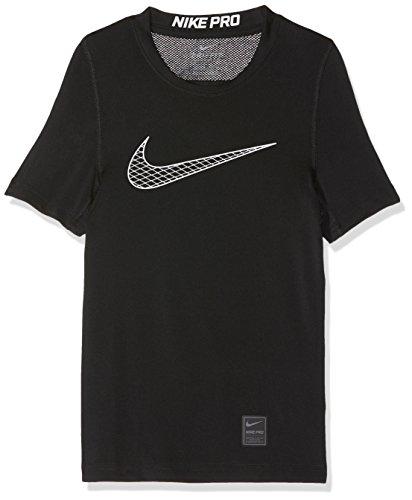 Nike Jungen Pro Compression Kurzarm Shirt, Black/(Cool Grey), M