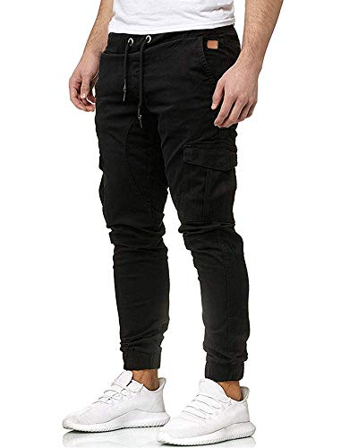 Homme Pantalon Cargo Casual Jogging Pantalon Chino Sport Jeans Slim Fit M-3XL