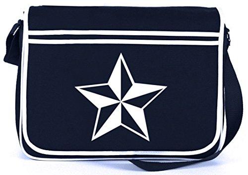 scher Stern, Nautic Nautical Retro Messenger Bag Kuriertasche Umhängetasche , Größe: onesize,Navy (Nautische Rucksack)