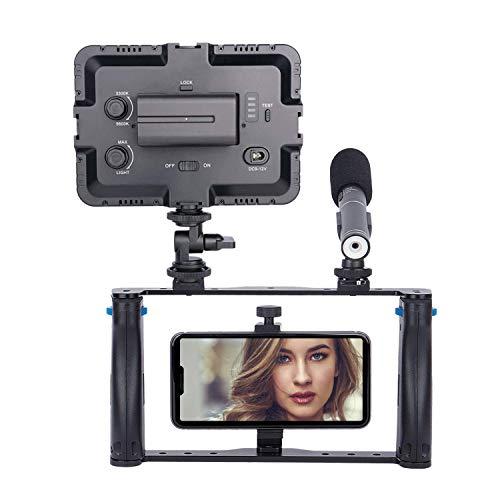Koolertron Stabilizzatore Mobile per Telefono Cellulare Caso Rig Stabilizzatori e Supporti per Videocamere Smartphone Film Maker Videografo per XS