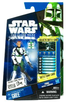 Star Wars Hasbro 2010 Clone Wars 20801 Carded 3-3/4 Inch Commander Gree C-9