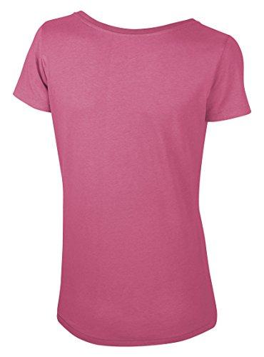 Maratus Damen T-Shirt Modal mit Weitem Ausschnitt Fair Wear Pink