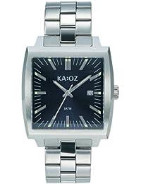 KA:OZ A44101-1S5I - Reloj para hombres, correa de acero inoxidable color plateado