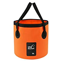 Folding Water Bucket - Foldable Camping Storage Container Collapsible Fish Bucket 12L 15L 20L Portable Lightweight Pail for Camping Traveling Hiking Fishing Boating and Gardening (Orange(12L))