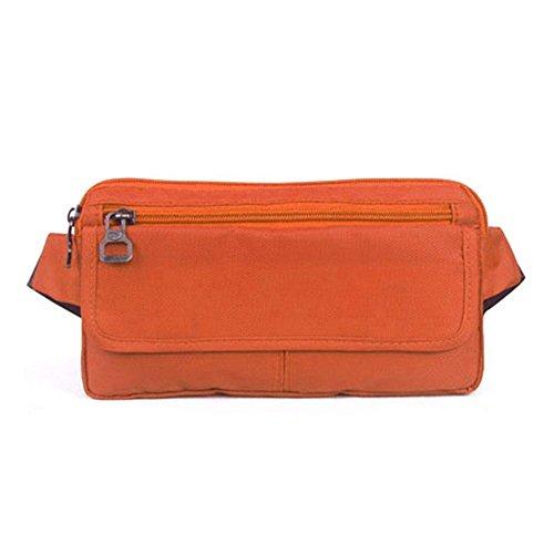 BUSL Wandern Hüfttaschen Außenreisedokumente. Handybeutel persönlicher Sport Männer und Frauen dünnes unsichtbares Sicherheitspaket wasserdichte Taschen laufen Orange