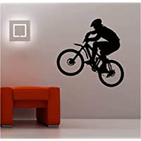 mmwin Huge Mountain Bike Wall Art Sticker Vinyl Kids Biker 55 * 56Cm