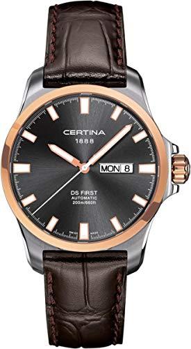 Certina Montre pour hommes en cuir XL analogique automatique c014,407,26,081,00