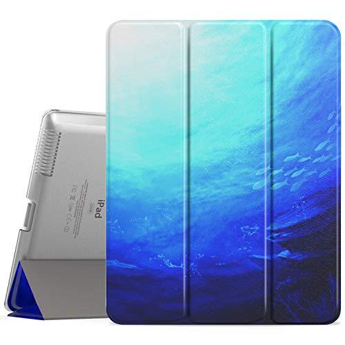 MoKo Hülle für iPad 2/3 / 4 - Ultra Slim Lightweight Smart Cover mit Durchschaubar Rückseite Schutzhülle und Auto Schlaf/Wach Funktion für iPad 2 / The New iPad 3 (3rd Gen) / iPad 4, Ocean (Ipad 4 Gen)