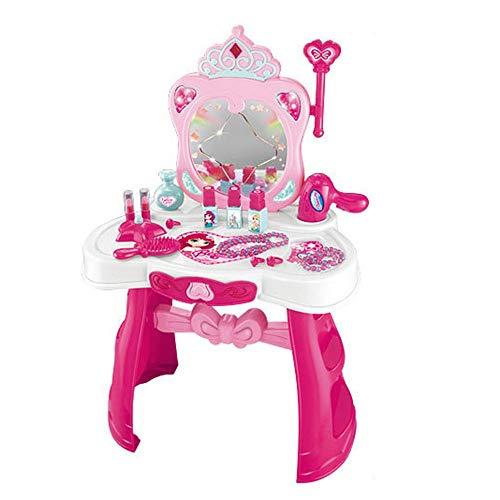 gtes Miniatur-Set Studio Schminktisch Kommode Beauty Play Spiegel Spielzeug Set für Kleinkinder Kinder Jungen Mädchen, Plastik, Rose, 43.9 * 28.1 * 67.2cm ()