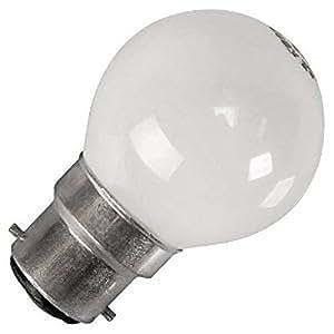 Eveready 10 x G45 Round Globe Golf Ball Light Bulbs in 60 Watt Bayonet B22 Fitting Opal (White/Pearl/Opaque/Soft) Finish Double Life: 2,000 Hour