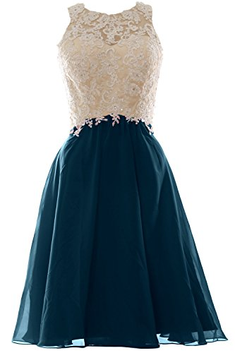 MACloth - Robe - Trapèze - Sans Manche - Femme Bleu - Bleu sarcelle