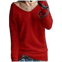 new product b48d6 14567 roter Pullover mit V-Ausschnitt - Suchergebnis auf Amazon.de für