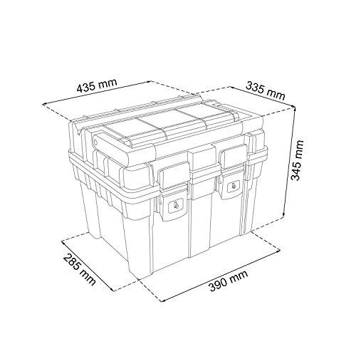 HD Compact 1 Werkzeugkoffer Box Toolbox Werkzeugkiste 450x350x350 Alugriff schwarz - 2