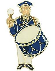 "Musiker ""Paul Pauke"" mit großer Trommel, blau, weiß"