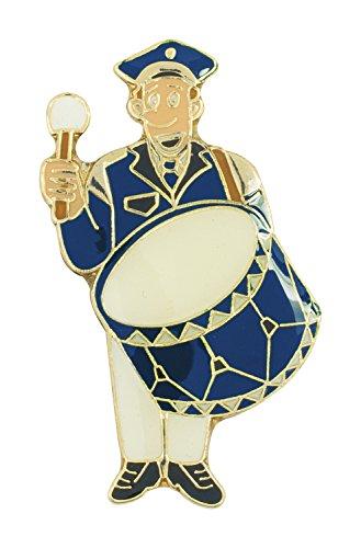 Deitert Musiker Paul Pauke mit großer Trommel, blau, weiß