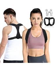 OUTERDO Haltungstrainer, Geradehalter zur Rücken Haltungskorrektur Posture Corrector, Rücken Sitzhaltung Korrektor für Damen und Herren, Rückentrainer eine Größe hinter Verstellbarer Schultergurt