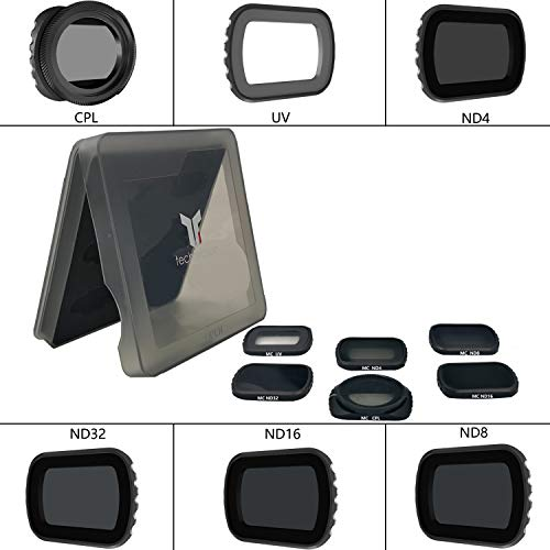 Techfection Filter für DJI Osmo Pocket Camera Lens ND Filter Set 6-Pack(ND4/ND8/ND16/ND32/UV/CPL) Lens ND Kombinations zubehör