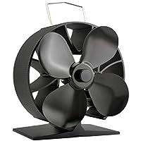 Ahorro de combustible 4 cuchillas Calentador eléctrico Estufa Ventilador de ventilador de estufa portátil ...