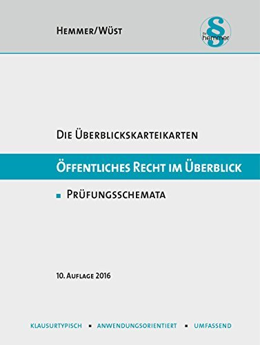 Karteikarten Öffentliches Recht im Überblick by Karl Edmund Hemmer (2016-03-01)