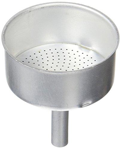 Distribuidora Ersa Filtro con Embudo Cafetera, Aluminio, Gris, 17,6 x 12,7 x 6,8 cm