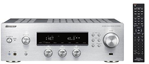Pioneer SX-N30AE-S Multiroomfähiger Netzwerk Stereo-Receiver mit integriertem WiFi, Chromecast, tuneIN Internet Radio, Kanal, 135W silber