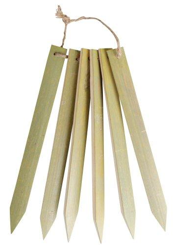 Esschert Design Bambus Pflanzschilder 6 Stück, metall, 1.8x0.6x20 cm, GT58