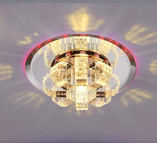 Ogsiwr AC220V 5W Runde Led Kristall Gang Wohnzimmer Dekoration Flur Porch Beleuchtung/MiniSpotlights Decke Downlights Mini 180 * 60mm, Blu-ray (Farbe : Red Light, Größe : -)