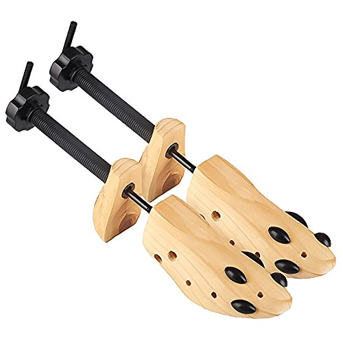 Shoe Stretcher, Expander for Shoes, Pair, Women & Men, Medium, Wood & Metal, 2-Way, Extender & Widener, Stretching Two Ways Length & Width, Woman Sneaker Accessories, Tree for Bunions