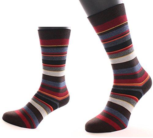 ALBERT KREUZ Herren Ringel-Socken in dezenten Farben - Streifen-Strümpfe mehrfarbig 42-44 (Luxus Blend Herren-socken Cashmere)