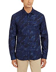 Parx Mens Casual Shirt (8907254444418_XMSA05276-B6_42_Dark Blue)