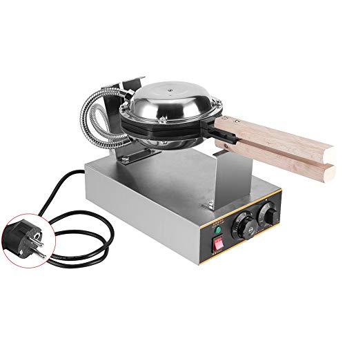 Gofrera eléctrica manual de 220 V 1400 W, para horno, pan y horno, de acero inoxidable con revestimiento antiadherente, de 50 °C a 250 °C (enchufe europeo)