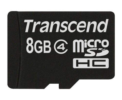 Transcend 8 GB Class 4 MicroSDHC Card (TS8GUSDC4)