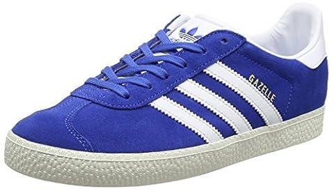 adidas Gazelle, Baskets Basses Enfants Unisex, Bleu (Blue/Ftwr White/Gold Metallic), 36 EU