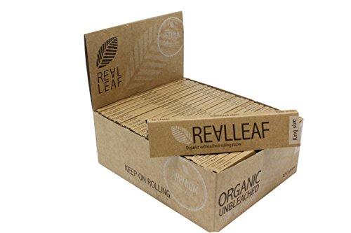 Slim organic hemp Rolling Papers Full Box Of 50 Packs KS unbleached natural gum ()