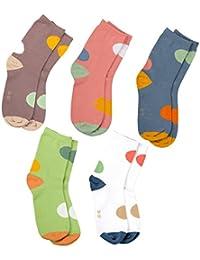 MAIWA Kids calcetines de algodón sin costuras para las niñas niños 5unidades