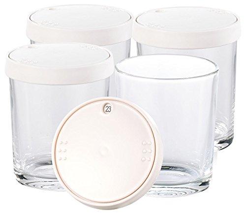 PEARL Zubehör zu Joghurt-Maschine: Ersatz-Gläser für PEARL Joghurt Maker, 4er-Set (Joghurt-Zubereiter) - Glas Joghurt-gläser