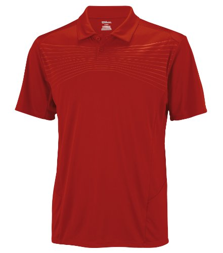 Wilson Herren Poloshirts M Sp Solana Embossed Polo, Wilson Red, S, WR1049900SM