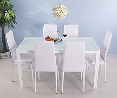 Life Carver 5 Pieces Dining Table and 4 Chairs Set Modern Home Kitchen Furniture Dinning Room Sets - inexpensive UK light store.