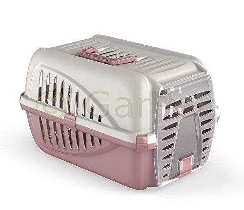 Hunde Katzen Kleintier Transportbox Transport Auto Box Korb Katzenbox (rose)