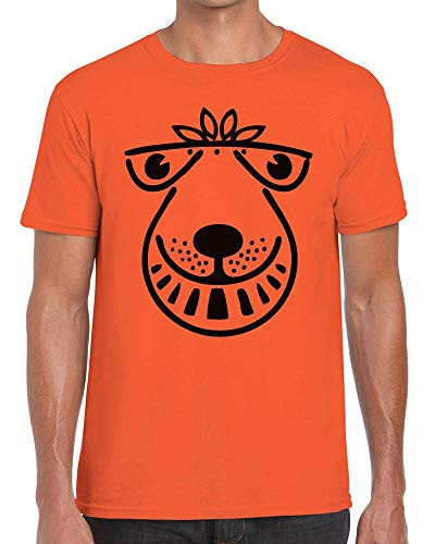 Funky NE Ltd Space Hopper - 80's Nostalgia - Retro - Fun - Tshirt Orange - XXL
