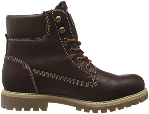 TOM TAILOR Damen 1690101 Kurzschaft Stiefel Rot (Bordo)